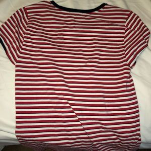 Forever 21 red striped shirt